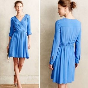Anthropologie Maeve Lene Faux Wrap Dress